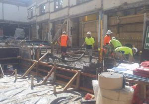lead stand on busy sydney construction site